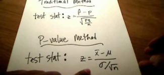 Stats: Hypothesis Testing (P-value Method)